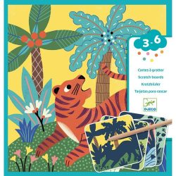Carte a gratter gros animaux